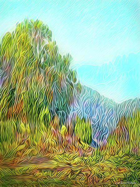 Digital Art - Golden State Mountain Vista by Joel Bruce Wallach