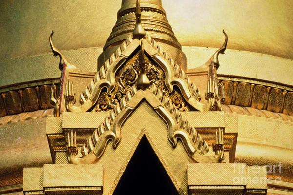 Photograph - Golden Stupa Detail Wat Phra Kaew  by Heiko Koehrer-Wagner