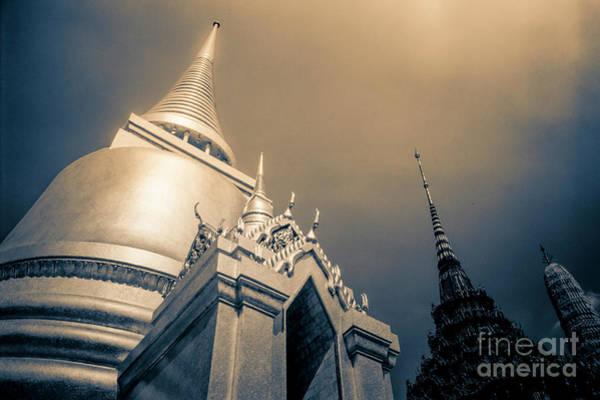 Photograph - Golden Stupa Wat Phra Kaew Temple  2 by Heiko Koehrer-Wagner
