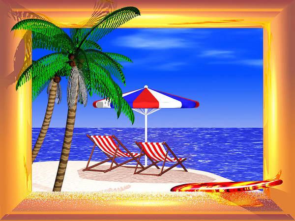 Carribean Islands Digital Art - Golden Summer by Andreas Thust
