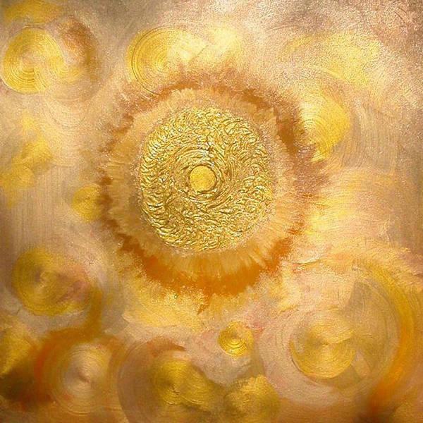 Wall Art - Painting - Golden-sun by Ramon Labusch