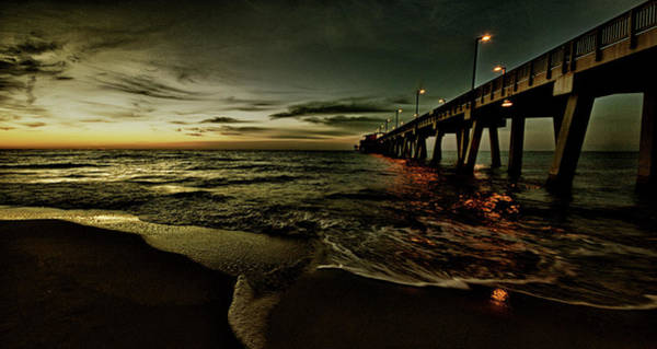 Photograph - Golden Sunrise At The Pier by Michael Thomas