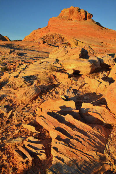 Photograph - Golden Sunrise On Buttes In Valley Of Fire by Ray Mathis