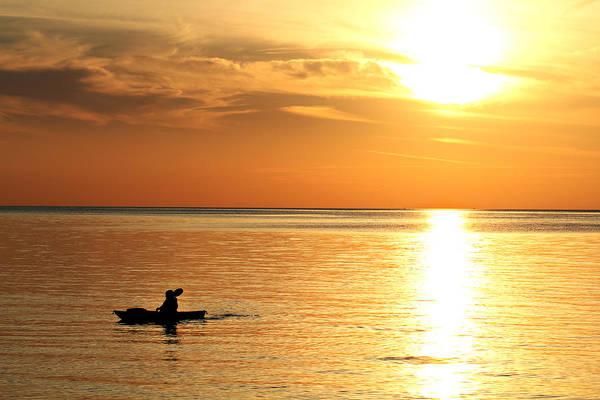 Wall Art - Photograph - Golden Sunset by Celestial  Blue