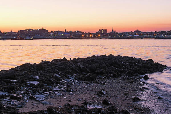 Photograph - Golden Sunset In Portland Maine by Toby McGuire