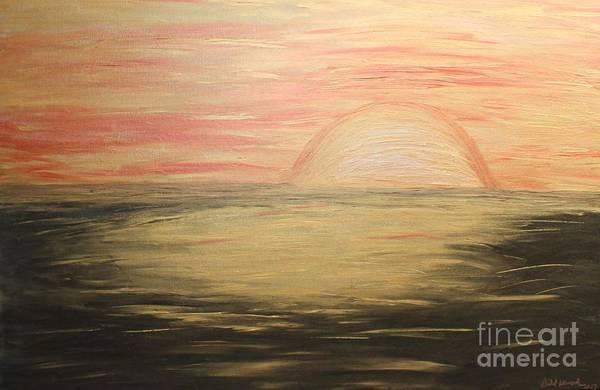 Painting - Golden Sunset by Rachel Hannah