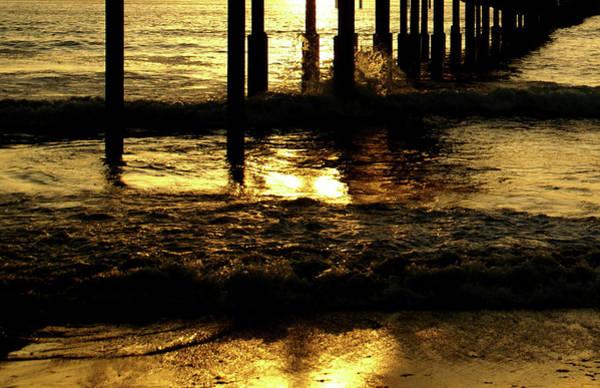 Photograph - Golden Surf by Linda Shafer