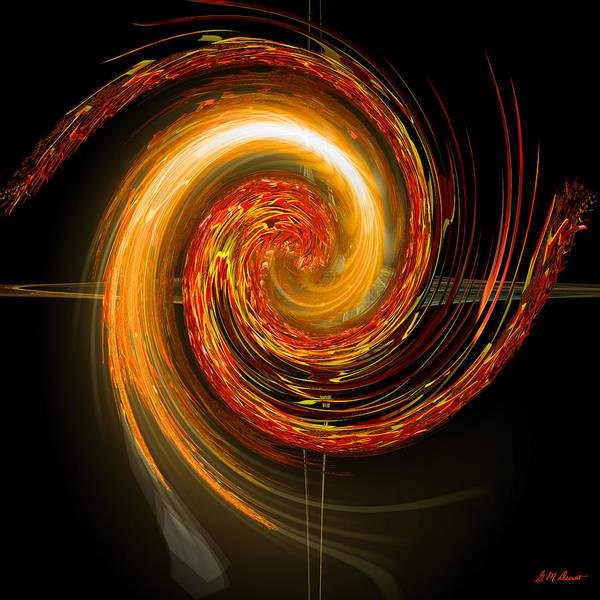 Algorithm Digital Art - Golden Swirl by Michael Durst