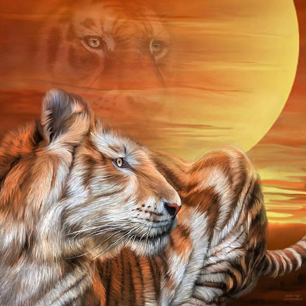 Mixed Media - Golden Tiger by Carol Cavalaris