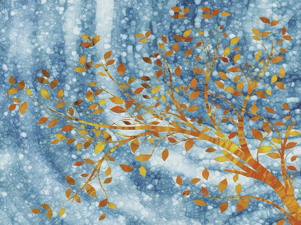 Wall Art - Painting - Golden Tree by Jack Zulli