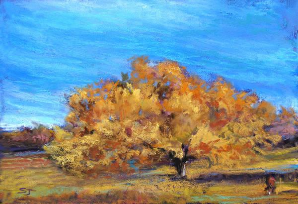 Pastel - Golden Tree by Susan Jenkins