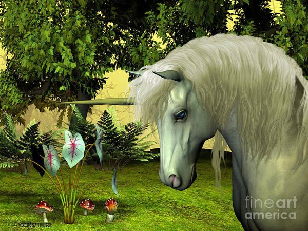 Unicorn Horn Digital Art - Golden Unicorn by Corey Ford
