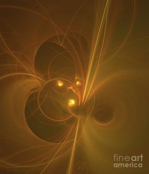 Deity Digital Art - Golden Universe by Raphael Terra