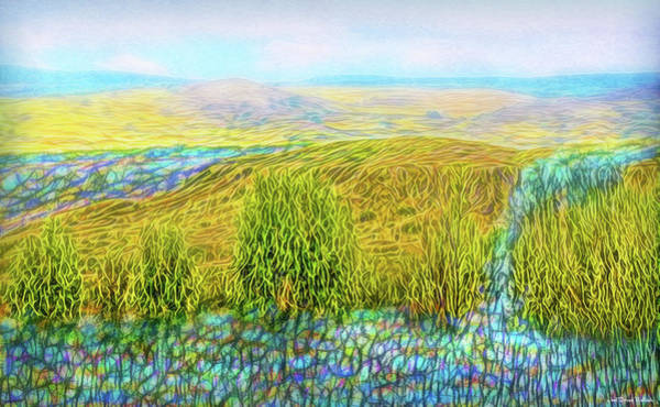 Digital Art - Golden Valley Streaming by Joel Bruce Wallach