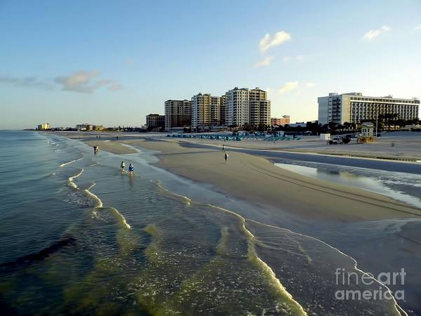 Photograph - Golden Waves On Clearwater Beach by D Hackett