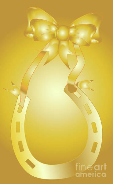 Horse Shoe Digital Art - Golden Wedding Aniversary by Bigalbaloo Stock