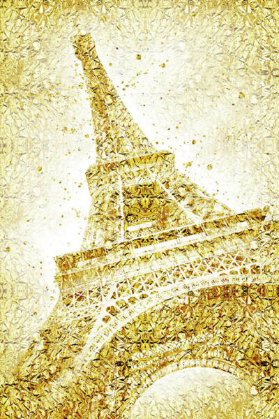 Wall Art - Photograph - Golden Wrapped Eiffel Tower  by Melanie Viola