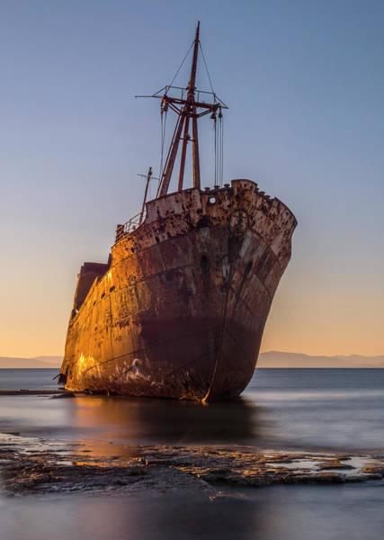 Photograph - Golden Wreck by Jaroslaw Blaminsky