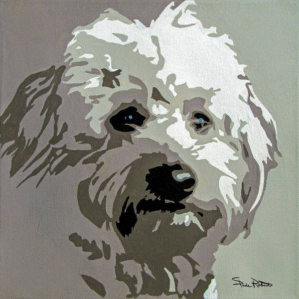 Poodle Wall Art - Painting - Goldendoodle by Slade Roberts