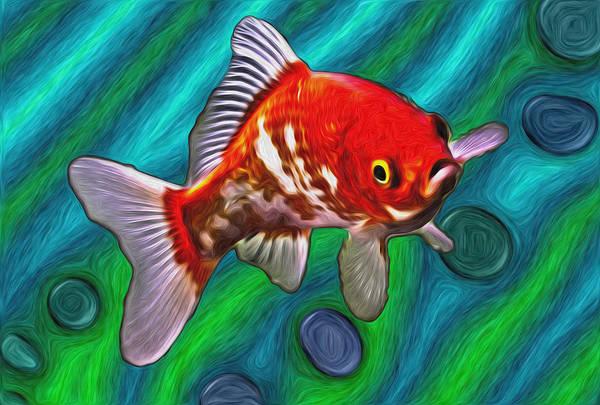 Mixed Media - Goldfish by Eastern Sierra Gallery
