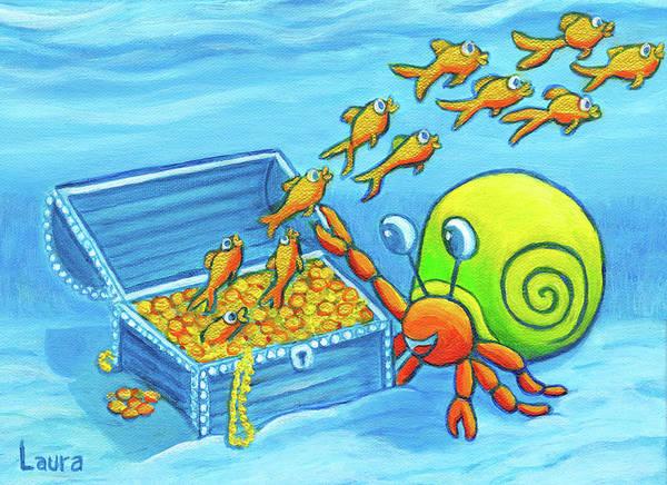 Wall Art - Painting - Goldfish by Laura Zoellner
