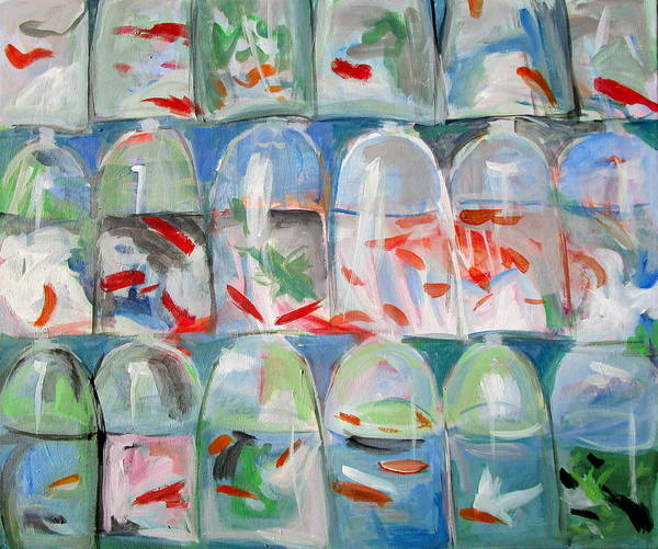 Goldfish Market Art Print
