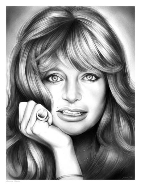 Actress Drawing - Goldie Hawn by Greg Joens