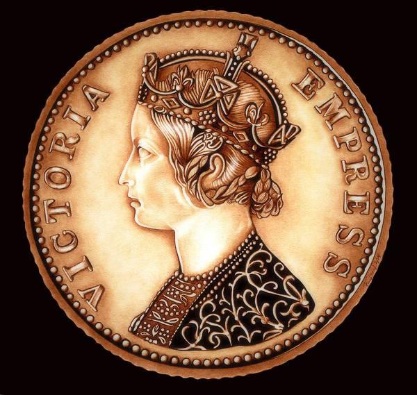 Drawing - Goldilocks Empress Victoria  by Fred Larucci