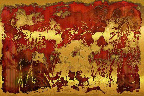 Digital Art - Goldmine Abstract by Carlos Diaz