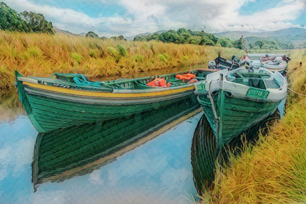 Photograph - Golds And Greens Of Late Summer On The River by Debra and Dave Vanderlaan