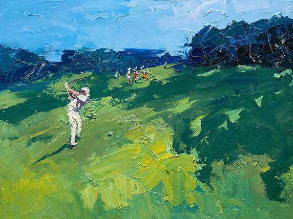 Augusta Masters Painting - Golf 232 by Agostino Veroni