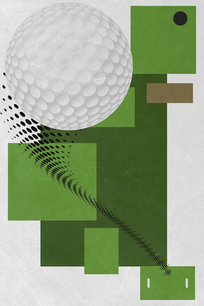 Wall Art - Mixed Media - Golf Art Par 4 by Joe Hamilton