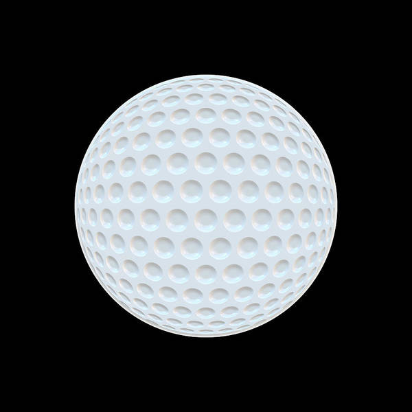 Amateur Digital Art - Golf Ball Abstract by Daniel Hagerman