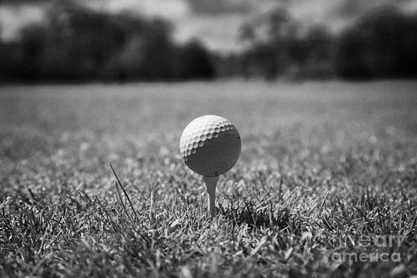 Wall Art - Photograph - Golf Ball On The Tee by Joe Fox