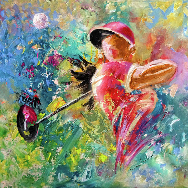 Painting - Golf Fascination by Miki De Goodaboom