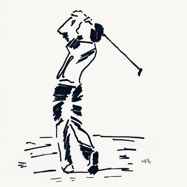 Beach Grass Drawing - Golf I by Winifred Kumpf