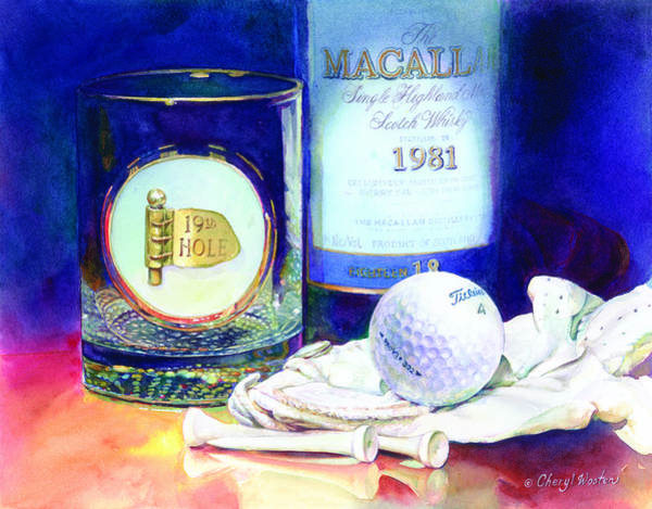 Scotch Wall Art - Painting - Golf Nap II by Cheryl Wooten