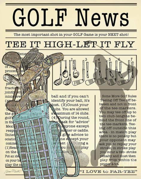 Wall Art - Digital Art - Golf News 1 by Jean Plout