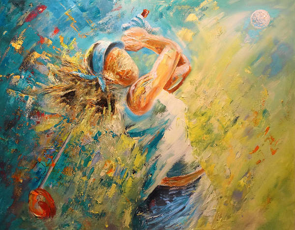 Painting - Golf Passion by Miki De Goodaboom