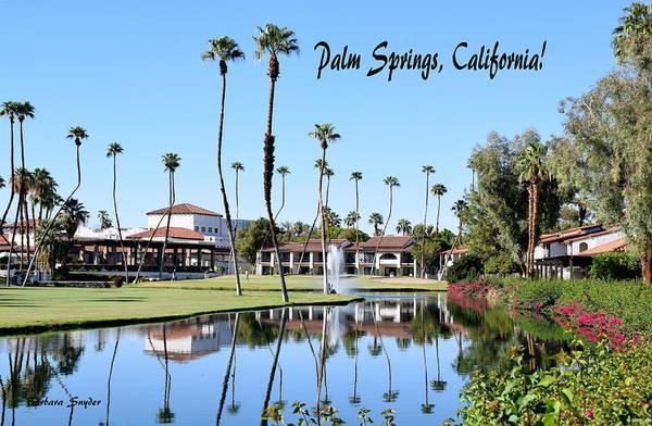 Painting - Golf Rancho Las Palmas by Barbara Snyder