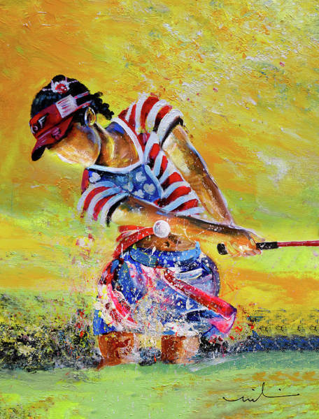 Painting - Golf Sandsation by Miki De Goodaboom