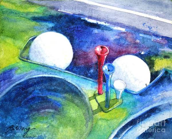 Painting - Golf Series - Back Safely by Betty M M Wong