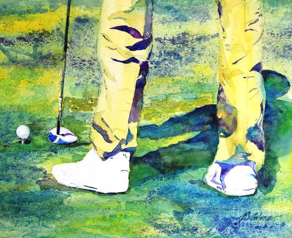 Painting - Golf Series - High Hopes by Betty M M Wong