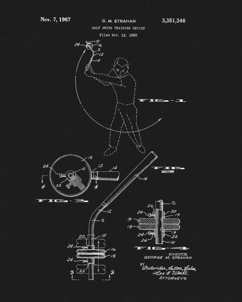 Drawing - Golf Training Device Patent by Dan Sproul