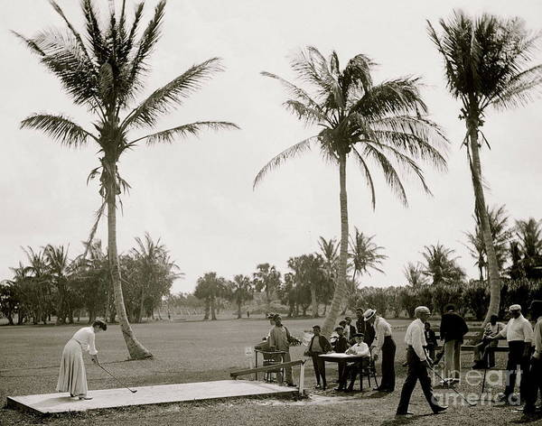 Wall Art - Photograph - Golf  Vintage Photograph by American School