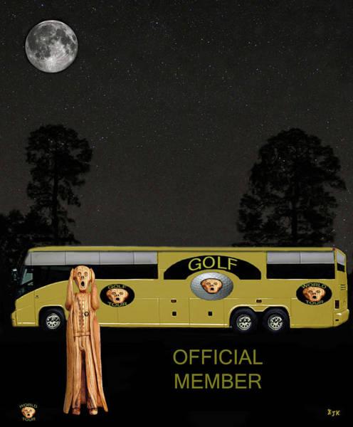 Mixed Media - Golf World Tour Scream by Eric Kempson
