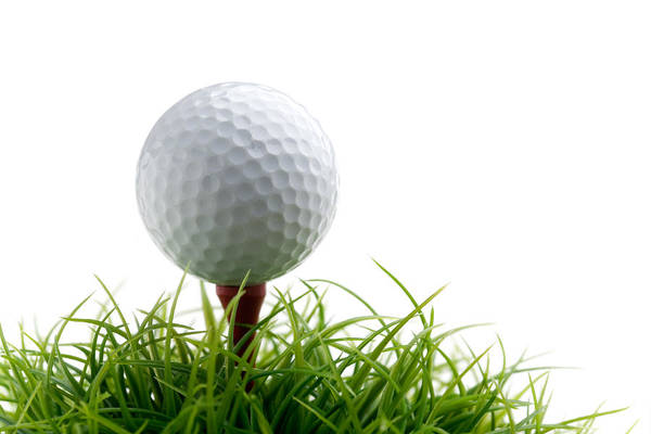 Golf Green Photograph - Golfball by Kati Finell