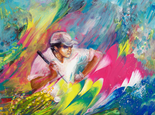 Painting - Golfing In Augusta by Miki De Goodaboom
