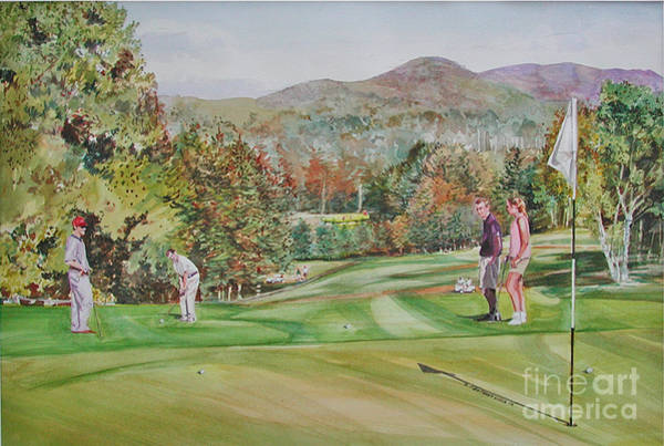 Painting - Golfing In Vermont by P Anthony Visco