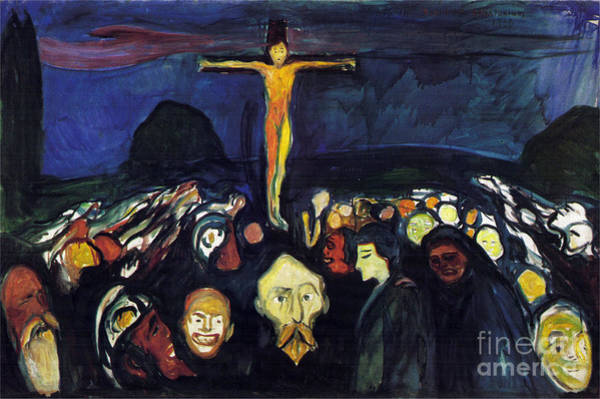 Golgotha Painting - Golgotha by Celestial Images